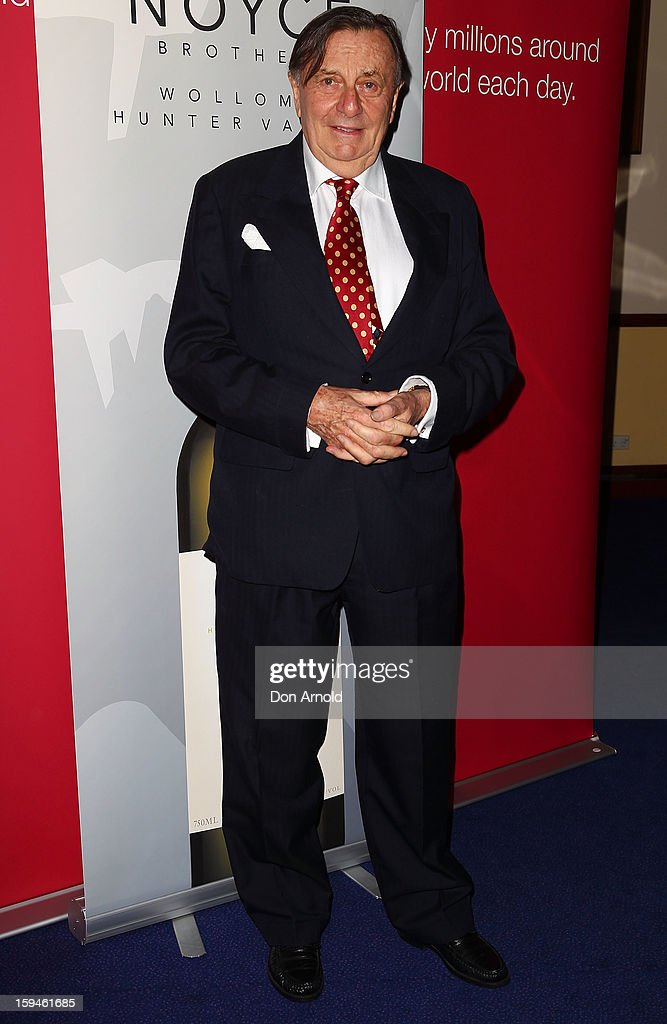 <a gi-track='captionPersonalityLinkClicked' href=/galleries/search?phrase=Barry+Humphries&family=editorial&specificpeople=206650 ng-click='$event.stopPropagation()'>Barry Humphries</a> walks the red carpet at the 2012 Sydney Theatre Awards at the Paddington RSL on January 14, 2013 in Sydney, Australia.