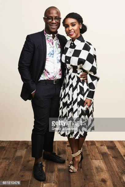 Barry Jenkins and Janelle Monae pose for portrait session at the 2017 Film Independent Spirit Awards on February 25 2017 in Santa Monica California