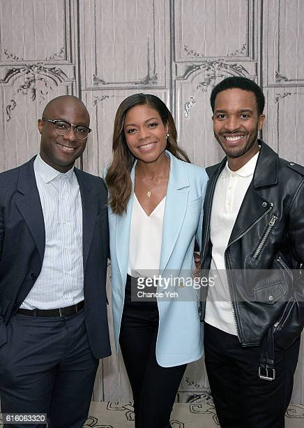 Barry Jenkins Naomie Harris and Andre Holland attend The Build Series to discuss 'Moonlight' at AOL HQ on October 21 2016 in New York City