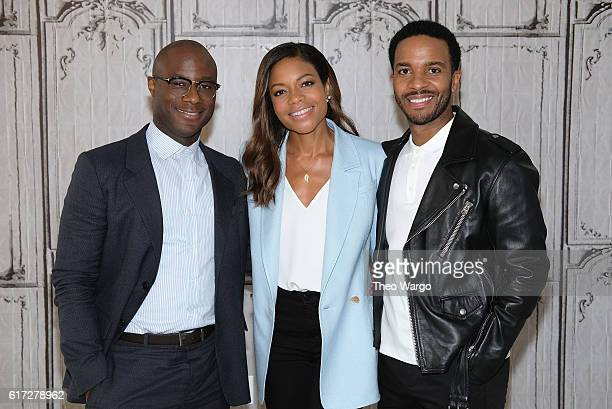 Barry Jenkins Naomie Harris and Andre Holland attend The Build Series Presents The Cast Of 'Moonlight' at AOL HQ on October 21 2016 in New York City
