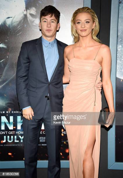 Barry Keoghan and Shona Guerin attend the 'DUNKIRK' premiere in New York City