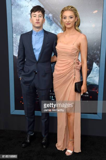 Barry Keoghan and Shona Guerin attends the 'DUNKIRK' New York Premiere on July 18 2017 in New York City
