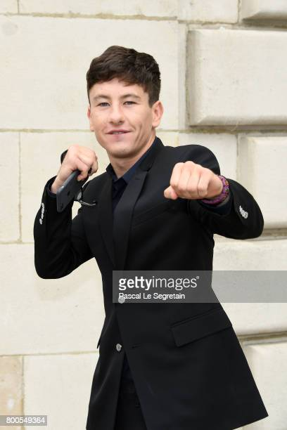 Barry Keoghan attends the Dior Homme Menswear Spring/Summer 2018 show as part of Paris Fashion Week on June 24 2017 in Paris France