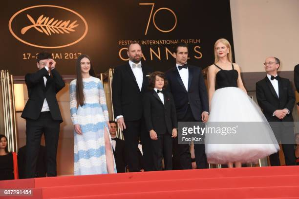 Barry Keoghan Raffey Cassidy director Yorgos Lanthimos Sunny Suljic Colin Farrell and Nicole Kidman and producer Ed Guiney attend 'The Killing Of A...