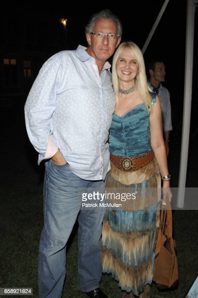 Barry Klarberg and Sara HerbertGalloway attend the Best Buddies Hamptons Gala at the Home of Anne Hearst McInerney and Jay McInerney on August 21...