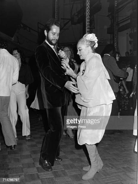 Barry Landau and Phyllis Diller dancing at Studio 54 circa 1979 in New York City