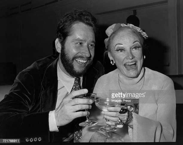 Barry Landau and Phyllis Diller partying at Studio 54 circa 1979 in New York City