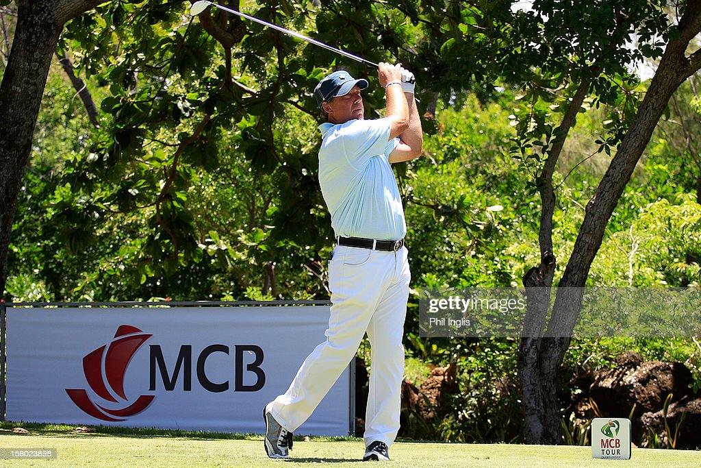 <a gi-track='captionPersonalityLinkClicked' href=/galleries/search?phrase=Barry+Lane&family=editorial&specificpeople=206428 ng-click='$event.stopPropagation()'>Barry Lane</a> of England in action during the final round of the MCB Tour Championship played at the Legends Course, Constance Belle Mare Plage on December 9, 2012 in Poste de Flacq, Mauritius.