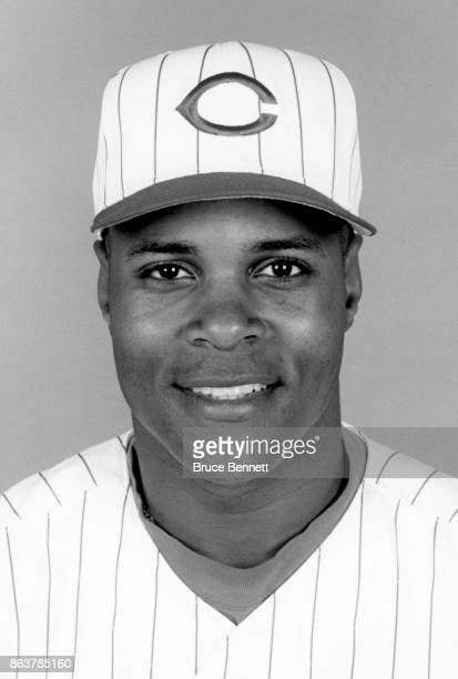 Barry Larkin of the Cincinnati Reds poses for a portrait during Spring Training circa March 1995 in Plant City Florida