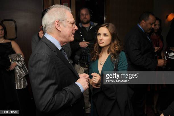 Barry Levinson and Rachael Leigh Cook attend MOET CHANDON and 10 CANE RUM Private Dinner for THE CREATIVE COALITION at Teatro Goldoni Restaurant on...