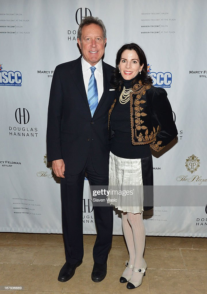 Barry M. Weintraub and Jill Sand attend the Safra Luncheon at The Warren Tricomi Salon At The Plaza Hotel on May 2, 2013 in New York City.