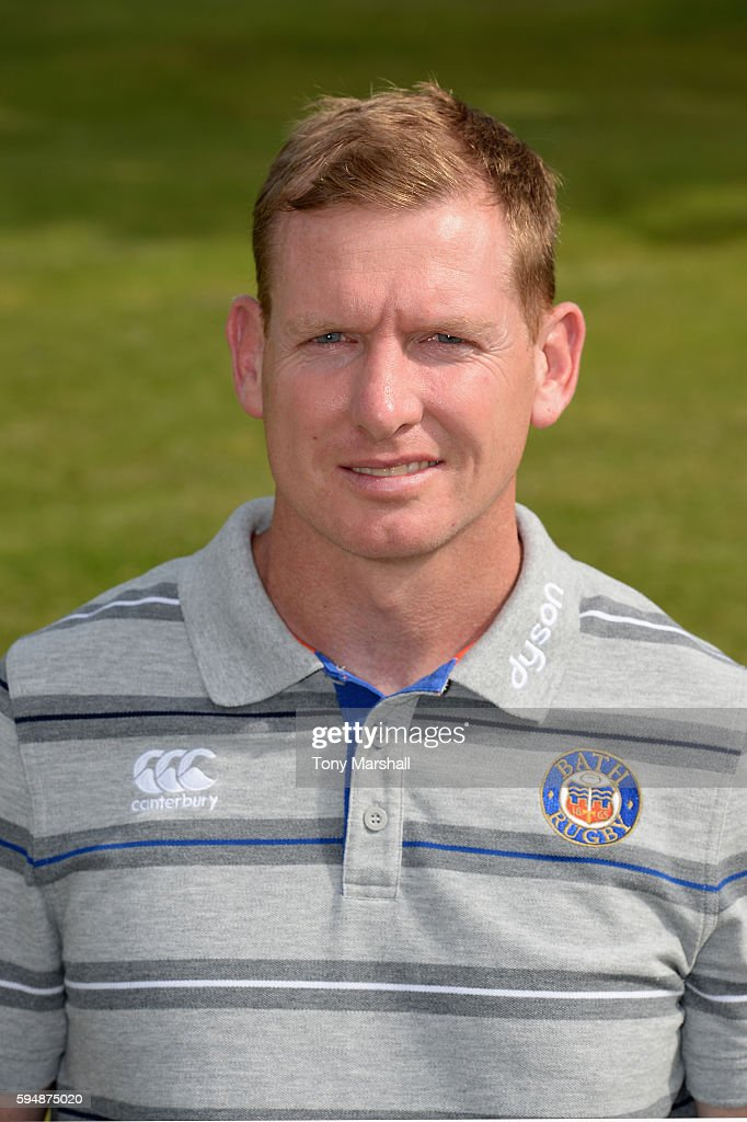 Barry Maddocks Assistant Academy Manager poses for a portrait during the Bath Rugby squad photo call for the 20162017 Aviva Premiership Rugby season...