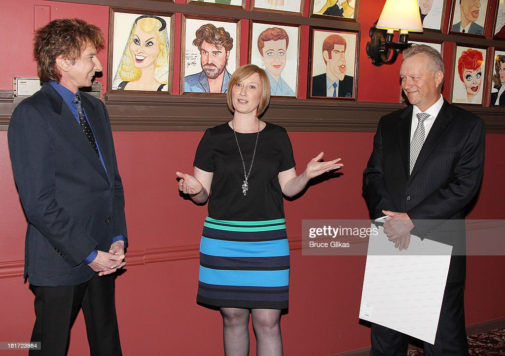 <a gi-track='captionPersonalityLinkClicked' href=/galleries/search?phrase=Barry+Manilow&family=editorial&specificpeople=210534 ng-click='$event.stopPropagation()'>Barry Manilow</a>, American Theatre Wing Executive Director Heather Hitchens and Sardi's Owner Max Klimavicius attend the <a gi-track='captionPersonalityLinkClicked' href=/galleries/search?phrase=Barry+Manilow&family=editorial&specificpeople=210534 ng-click='$event.stopPropagation()'>Barry Manilow</a> Caricature Unveiling at Sardi's on February 14, 2013 in New York City.