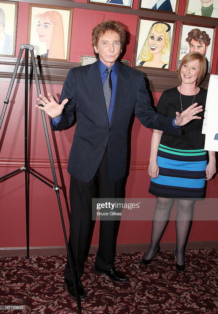 <a gi-track='captionPersonalityLinkClicked' href=/galleries/search?phrase=Barry+Manilow&family=editorial&specificpeople=210534 ng-click='$event.stopPropagation()'>Barry Manilow</a> and American Theatre Wing Executive Director Heather Hitchens attend the <a gi-track='captionPersonalityLinkClicked' href=/galleries/search?phrase=Barry+Manilow&family=editorial&specificpeople=210534 ng-click='$event.stopPropagation()'>Barry Manilow</a> Caricature Unveiling at Sardi's on February 14, 2013 in New York City.