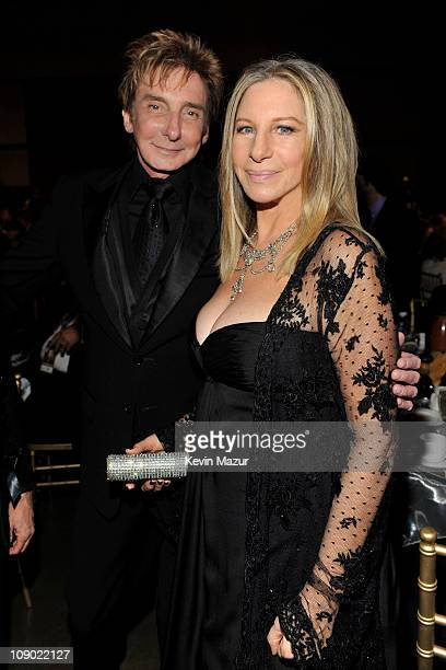 Barry Manilow and Barbra Streisand attends 2011 MusiCares Person of the Year Tribute to Barbra Streisand at Los Angeles Convention Center on February...