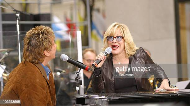 Barry Manilow and Bette Midler during Bette Midler Performs with Special Guest Barry Manilow on 'The Today Show' Concert Series October 1 2003 at NBC...