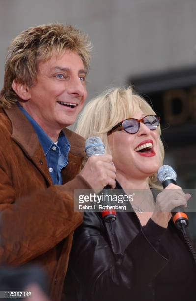 Barry Manilow and Bette Midler during The 'Today' Show 2003 Concert Series Barry Manilow and Bette Midler at Rockefeller Plaza in New York City New...
