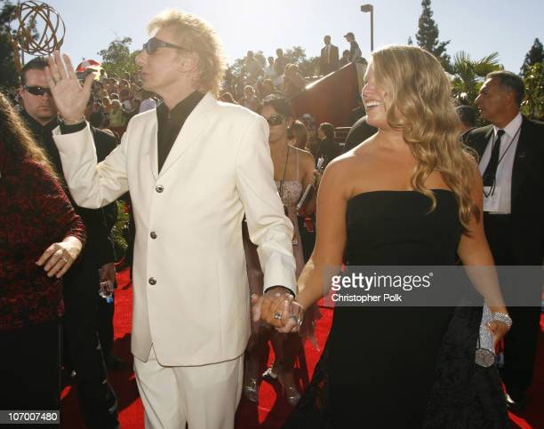 Barry Manilow and guest during 58th Annual Primetime Emmy Awards Red Carpet at The Shrine Auditorium in Los Angeles California United States