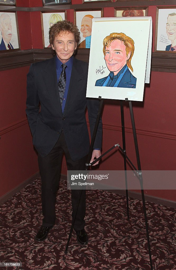 <a gi-track='captionPersonalityLinkClicked' href=/galleries/search?phrase=Barry+Manilow&family=editorial&specificpeople=210534 ng-click='$event.stopPropagation()'>Barry Manilow</a> attends <a gi-track='captionPersonalityLinkClicked' href=/galleries/search?phrase=Barry+Manilow&family=editorial&specificpeople=210534 ng-click='$event.stopPropagation()'>Barry Manilow</a>'s Caricature Unveiling at Sardi's on February 14, 2013 in New York City.