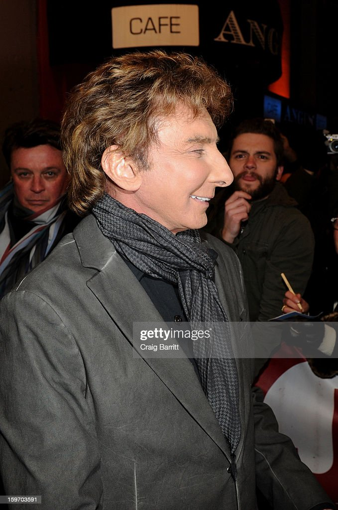 <a gi-track='captionPersonalityLinkClicked' href=/galleries/search?phrase=Barry+Manilow&family=editorial&specificpeople=210534 ng-click='$event.stopPropagation()'>Barry Manilow</a> attends his Broadway fan meet and greet at St. James Theatre on January 18, 2013 in New York City.