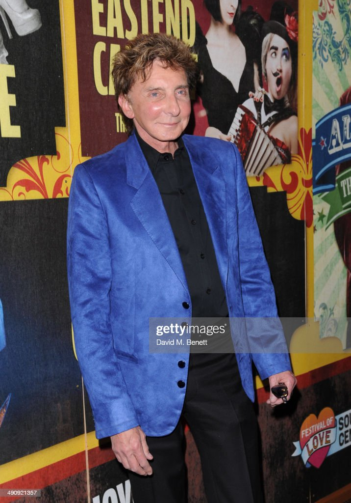<a gi-track='captionPersonalityLinkClicked' href=/galleries/search?phrase=Barry+Manilow&family=editorial&specificpeople=210534 ng-click='$event.stopPropagation()'>Barry Manilow</a> attends the press night performance of 'LIMBO' on May 15, 2014 in London, England.