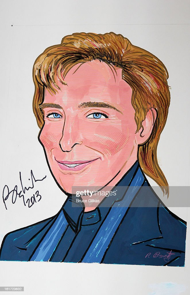 Barry Manilow Caricature at Sardi's on February 14, 2013 in New York City.