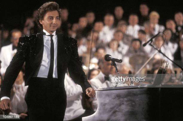Barry Manilow during 'Americana' Concert July 4 1986 at Liberty State Park in Jersey City New Jersey United States