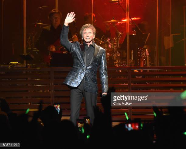 Barry Manilow performs at The Fox Theatre on July 27 2017 in Atlanta Georgia