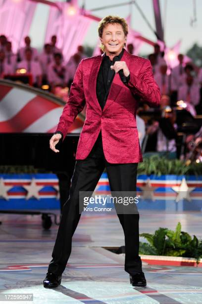 Barry Manilow performs during a rehearsal for the 'A Capitol Fourth 2013 Independence Day Concert' on the West Lawn of the US Capitol on July 3 2013...