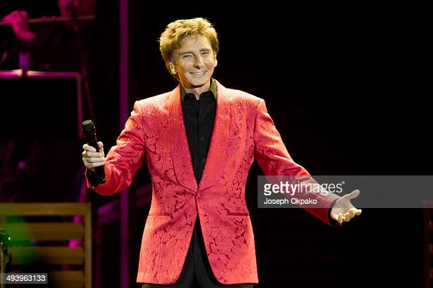Barry Manilow performs on stage at O2 Arena on May 26 2014 in London United Kingdom