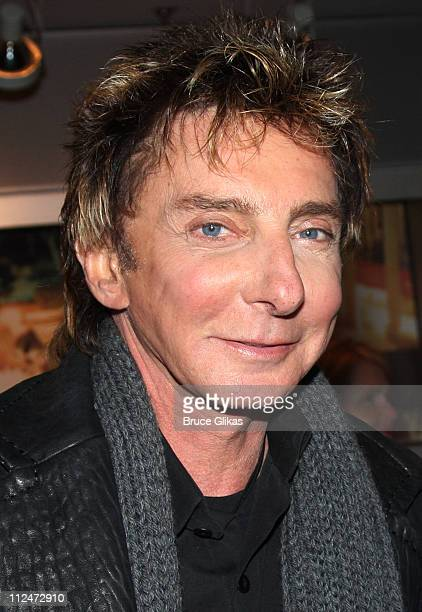 Barry Manilow poses during the opening night party for the world premiere of 'Minsky's' held at Ahmanson Theatre on February 6 2009 in Los Angeles...