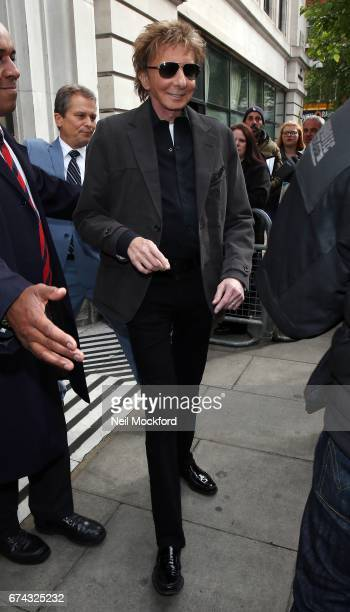 Barry Manilow seen at BBC Radio 2 on April 28 2017 in London England