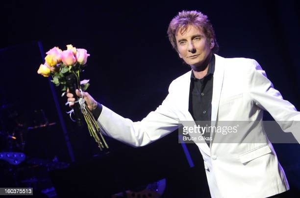 Barry Manilow takes his Opening Night curtain call for 'Manilow On Broadway' at The St James Theatre on January 29 2013 in New York City