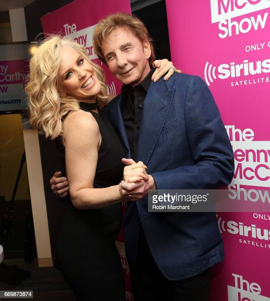 Barry Manilow visitis 'The Jenny McCarthy Show' with SiriusXM host Jenny McCarthy at SiriusXM Studios on April 18 2017 in New York City