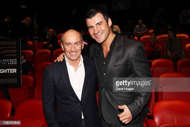 Barry McGuigan and Joe Calzaghe attend a special boxers screening of The Fighter held at The Soho Hotel on January 24 2011 in London England