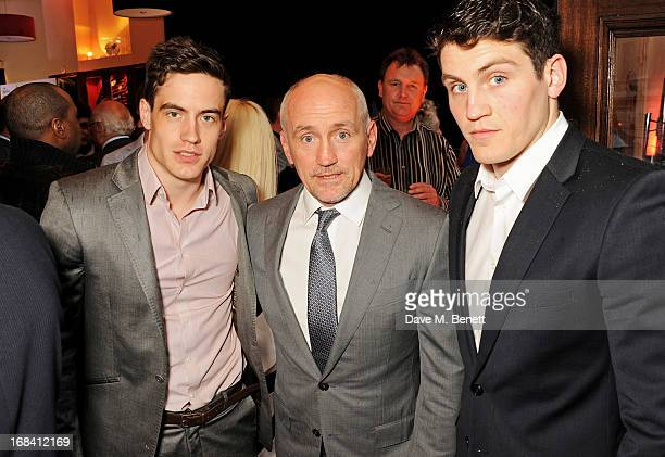 Barry McGuigan with sons Jake and Shane attend 'A Night of Sporting Gold' hosted by bespoke tailor Apsley at their Pall Mall showroom on May 9 2013...