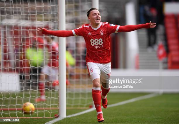 Barry McKay of Nottingham Forest celebrates scoring the opening goal during the Sky Bet Championship match between Nottingham Forest and Bolton...