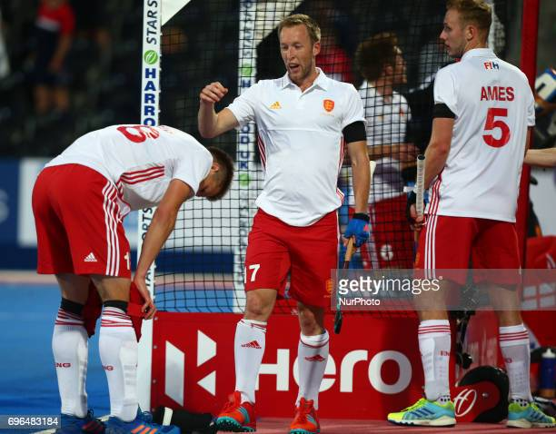 Barry Middleton of England middle during The Men's Hockey World League 2017 Group A match between England and Chinaat The Lee Valley Hockey and...
