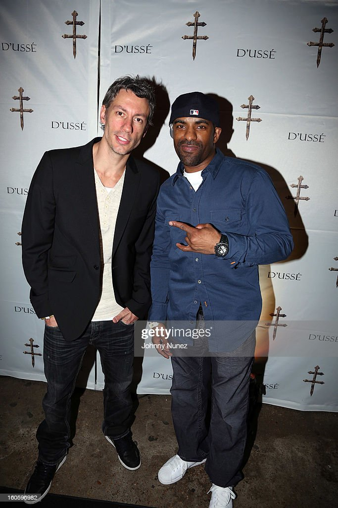 Barry Mullineaux and DJ Clue attend the Jay-Z & D'Usse Super Bowl Party at The Republic on February 2, 2013, in New Orleans, Louisiana.