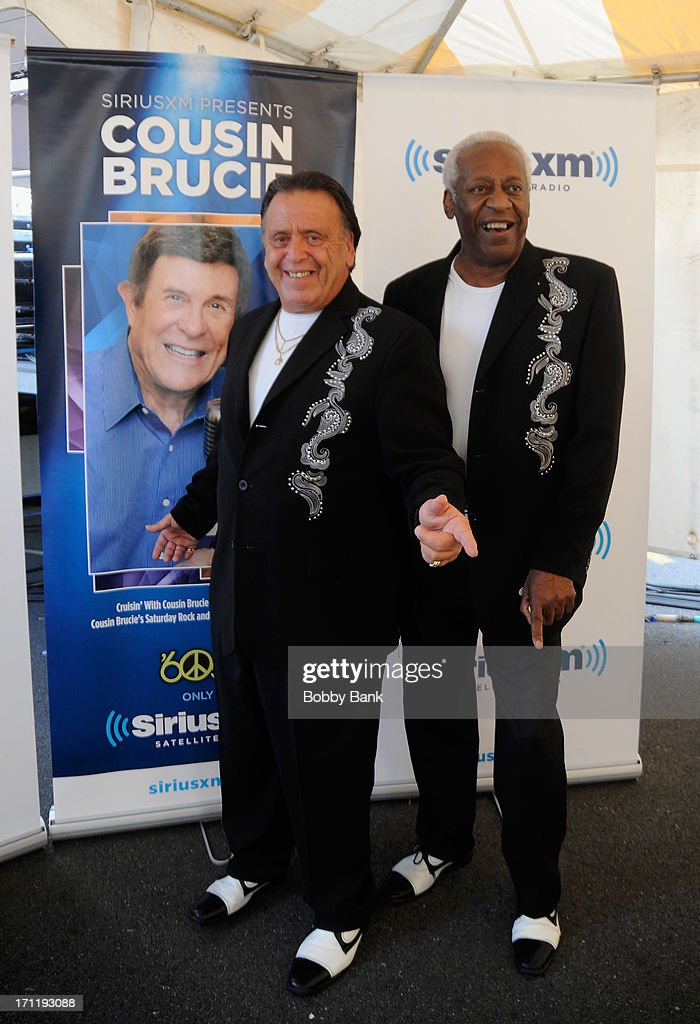 Barry Newman and J.T. Carter (R) of the Crests attend the Cousin Brucie's First Annual Palisades Park Reunion Presented By SiriusXM at State Fair Meadowlands on June 22, 2013 in East Rutherford, New Jersey.
