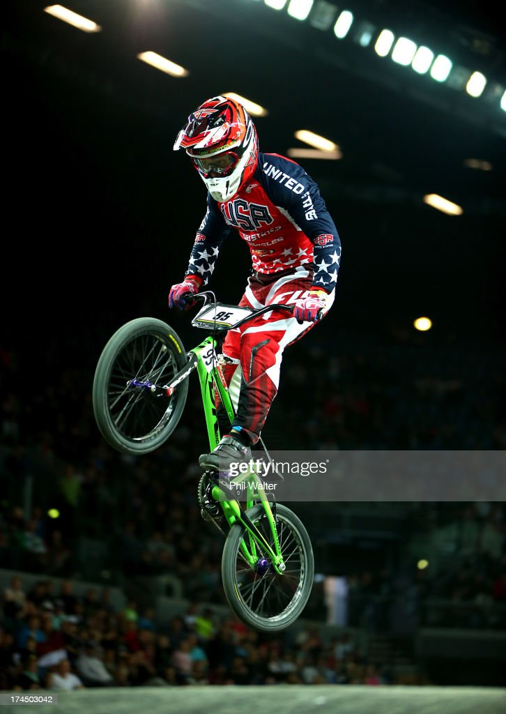 Barry Nobles of the USA competes in the Mens Elite time trial during day four of the UCI BMX World Championships at Vector Arena on July 27, 2013 in Auckland, New Zealand.