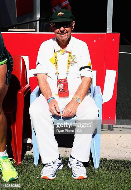 Barry 'Nugget' Rees looks on during day four of the First Test match between Australia and India at Adelaide Oval on December 12 2014 in Adelaide...