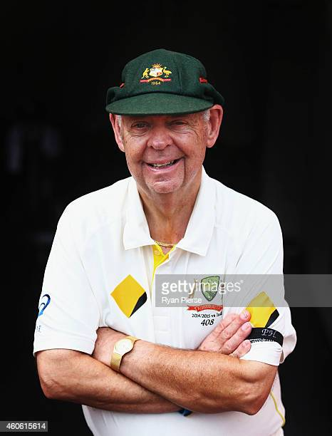 Barry 'Nugget' Rees poses during day two of the 2nd Test match between Australia and India at The Gabba on December 18 2014 in Brisbane Australia