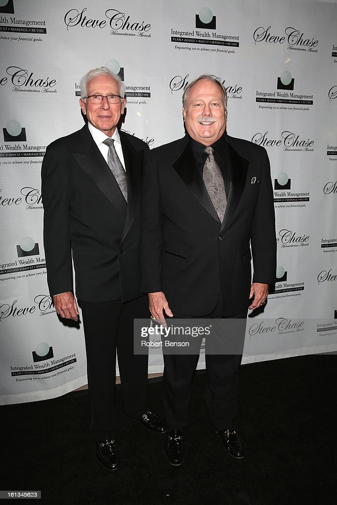Barry Ralph (L) and Curt Ringness arrive at the 19th Annual Steve Chase Humanitarian Awards Gala at the Palm Springs Convention Center on February 9, 2013 in Palm Springs, California.