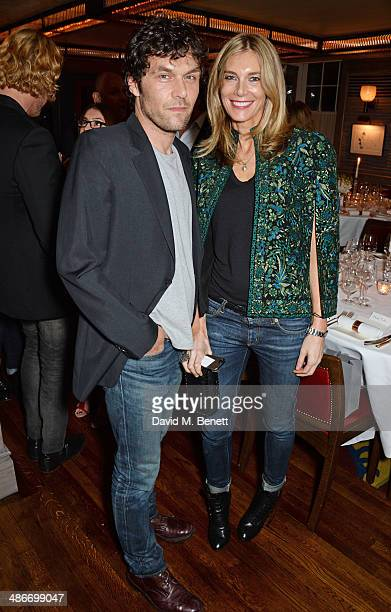 Barry Reigate and Kim Hersov attend an exclusive dinner hosted by Charles Finch Mulberry and PORTER Magazine for Julian Schnabel at 34 Grosvenor...