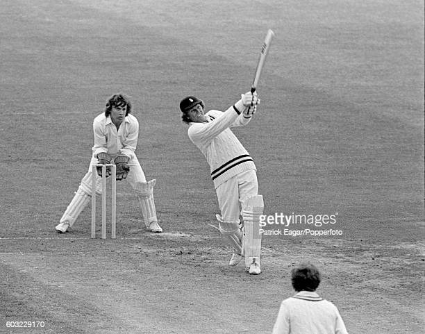 Barry Richards batting for Hampshire during his 102 in the John Player League match between Middlesex and Hampshire at Lord's Cricket Ground London...