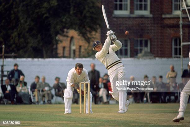 Barry Richards of Hampshire batting during his 104 in the John Player League match between Hampshire and Glamorgan at the County Ground Southampton...
