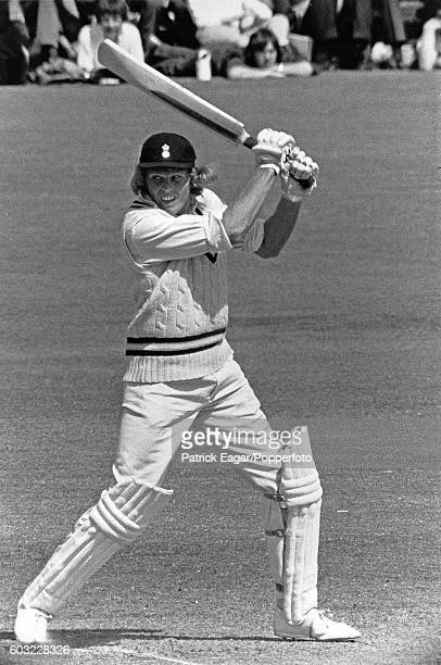 Barry Richards of Hampshire batting during the Benson and Hedges Cup Quarter Final between Hampshire and Kent at the County Ground Southampton 13th...