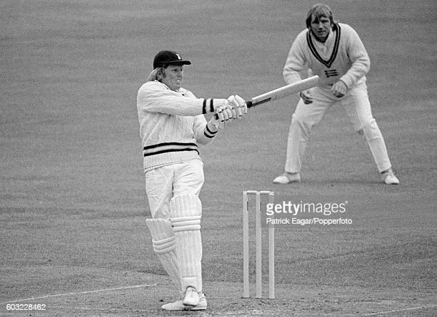 Barry Richards of Hampshire during his 189 in the match between MCC and Hampshire at Lord's Cricket Ground London 24th April 1974 Clive Radley is at...