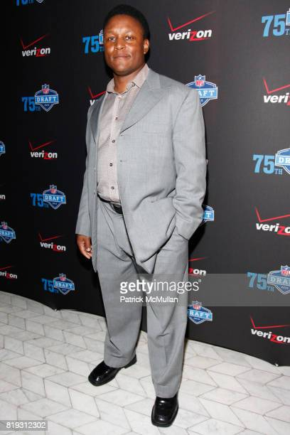 Barry Sanders attends NFL and VERIZON Celebrate Draft Eve at Abe and Arthur's on April 21 2010 in New York City